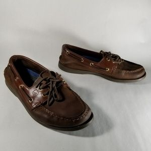 Sperry Top Sider Brown Leather Boat Shoes